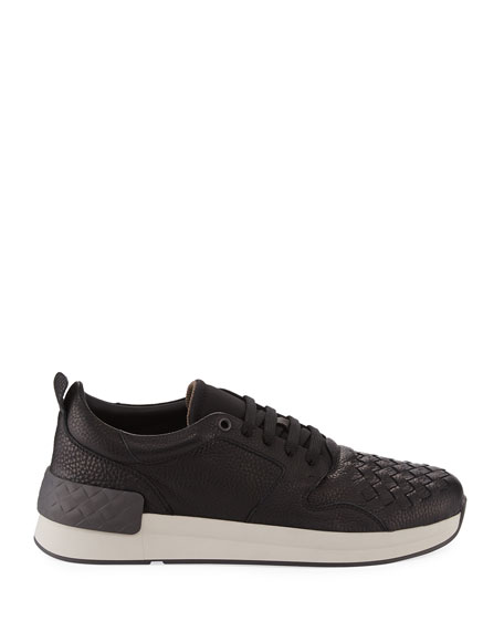 Men's Intrecciato Leather Low-Top Sneakers