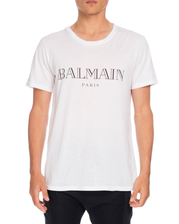 2ab3968fa77f46 Balmain BALMAIN LOGO TEE | Neiman Marcus
