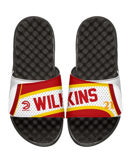 Men's NBA Retro Legends Dominique Wilkins #21 Jersey Slide Sandals, White
