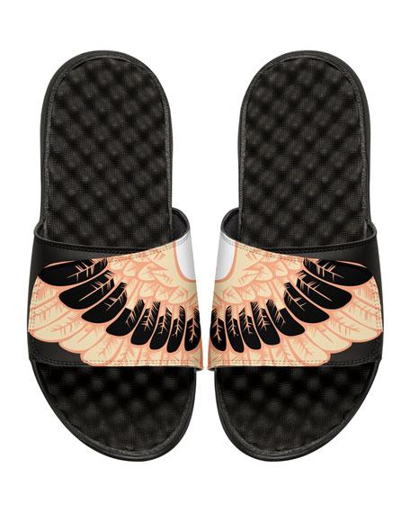ISlide Men's Wing-Print Slide Sandals