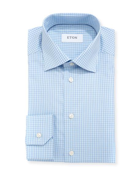 Woven Gingham Dress Shirt