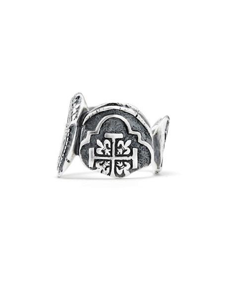 Men's Shipwreck Signet Coin Ring, 20mm