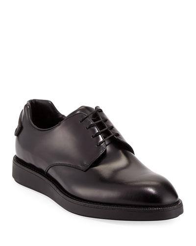 Spazzolato Hybrid Oxford Sneaker  Black
