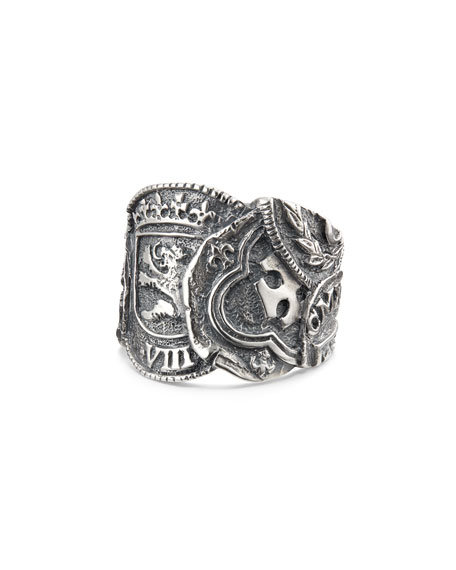 David Yurman Men's Shipwreck Coin Ring, 23.5mm