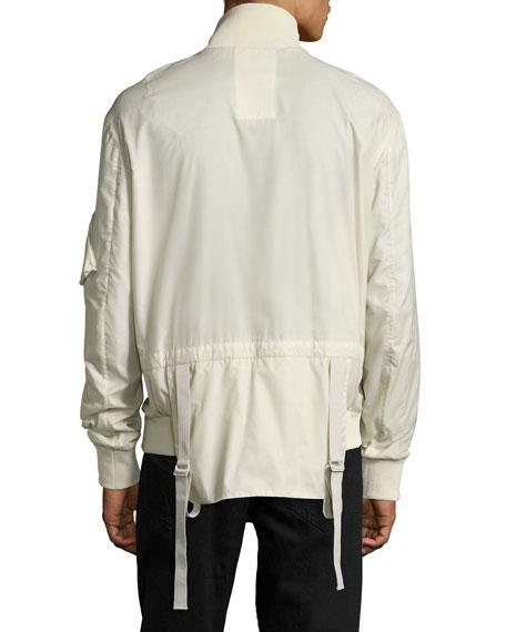 Translucent Tech Bomber Jacket, Beige