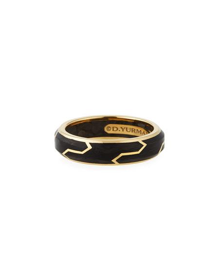 David Yurman Men's 18K-Gold/Forged Carbon Band Ring