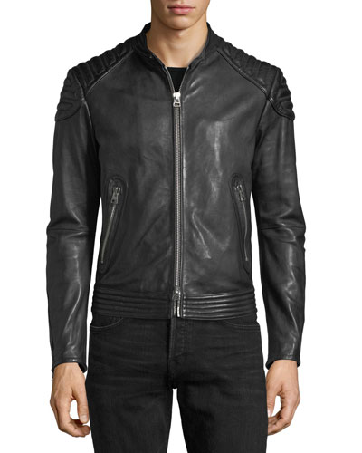BLACK CALF BIKER WITH SHOULD