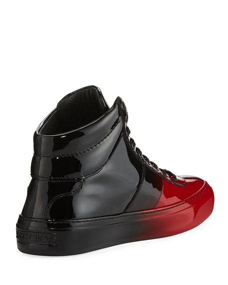 Belgravia Men's Dégradé Patent Leather High-Top Sneaker