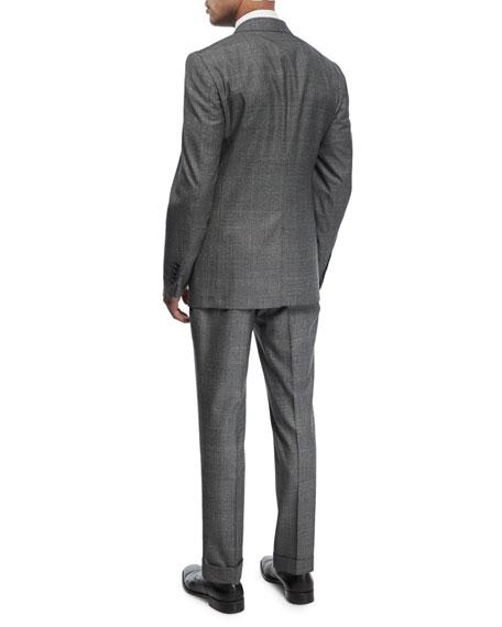 Shelton Base Mouline Prince of Wales Plaid Two-Piece Suit