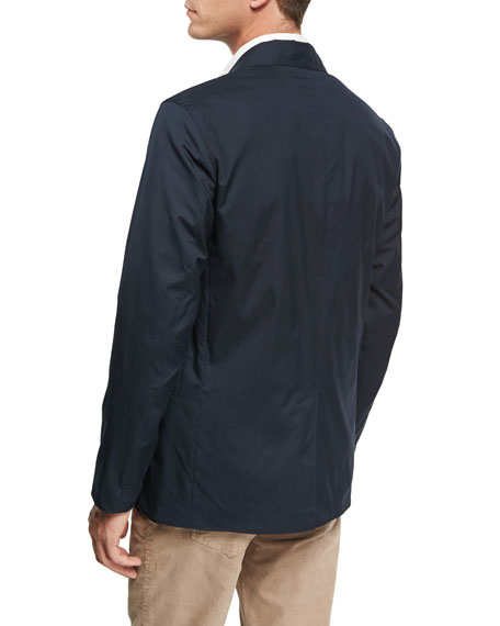 Park Hybrid Poplin Jacket, Navy