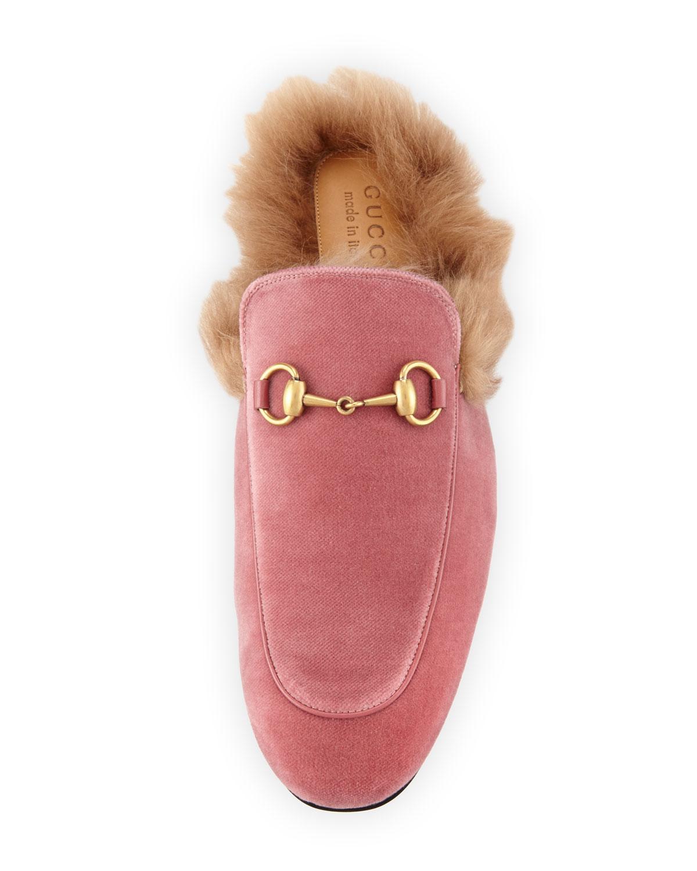 gucci pink velvet shoes