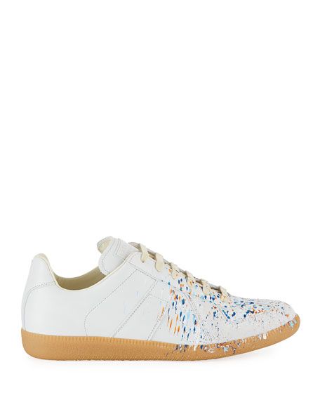Men's Replica Paint-Splatter Low-Top Sneakers