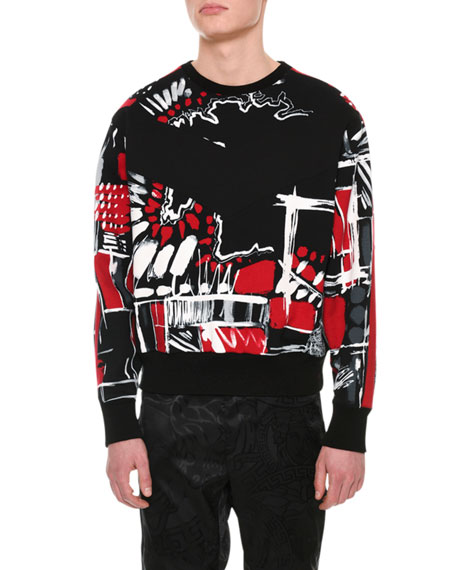 Versace Graphic-Print Cotton Sweatshirt