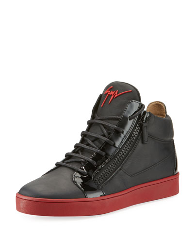 Berlin Leather Mid-Top Sneaker