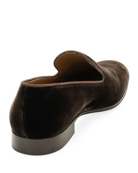 Jean Velvet Round-Toe Slipper