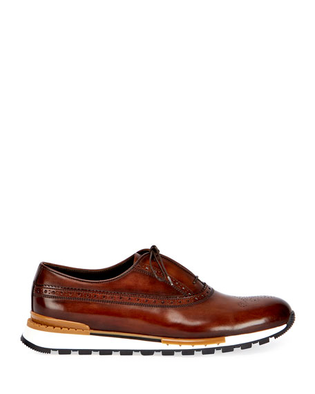 Image 2 of 3: Berluti Men's Fast Track Torino Calf Leather Sneaker