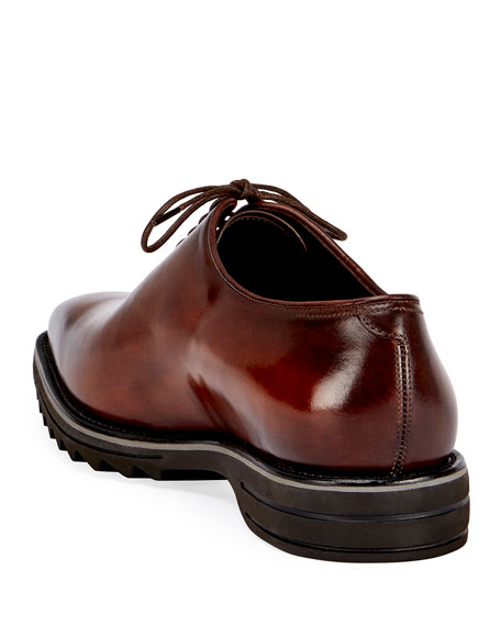 Berluti Alessandro Spada Leather Lace-Up Shoe, Brown