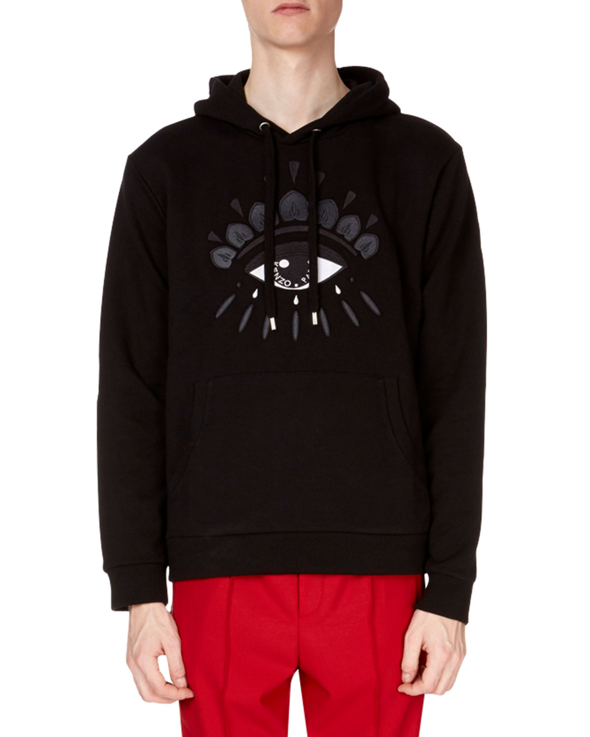 9688f7a2 Kenzo Embroidered Eye Icon Hoodie, Black | Neiman Marcus
