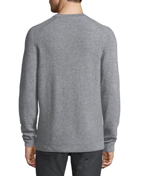 Cable Cashmere Crewneck Sweater