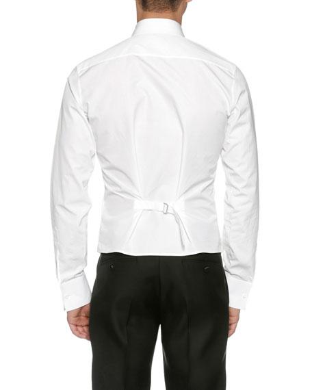 Formal Poplin Tuxedo Shirt, White