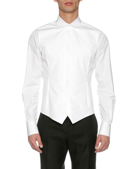 Dsquared2 Formal Poplin Tuxedo Shirt, White