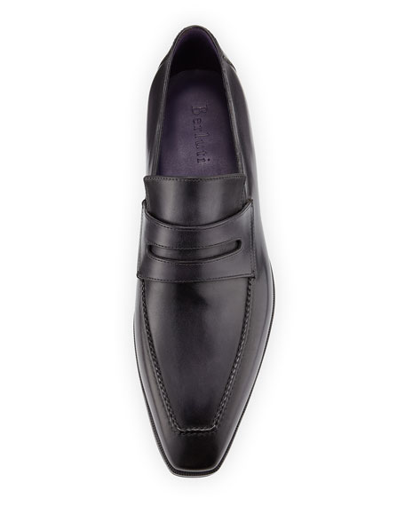 Andy Leather Loafer, Black