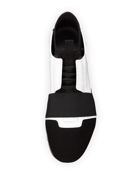 Men's Patent Race Runner Mesh & Leather Sneaker
