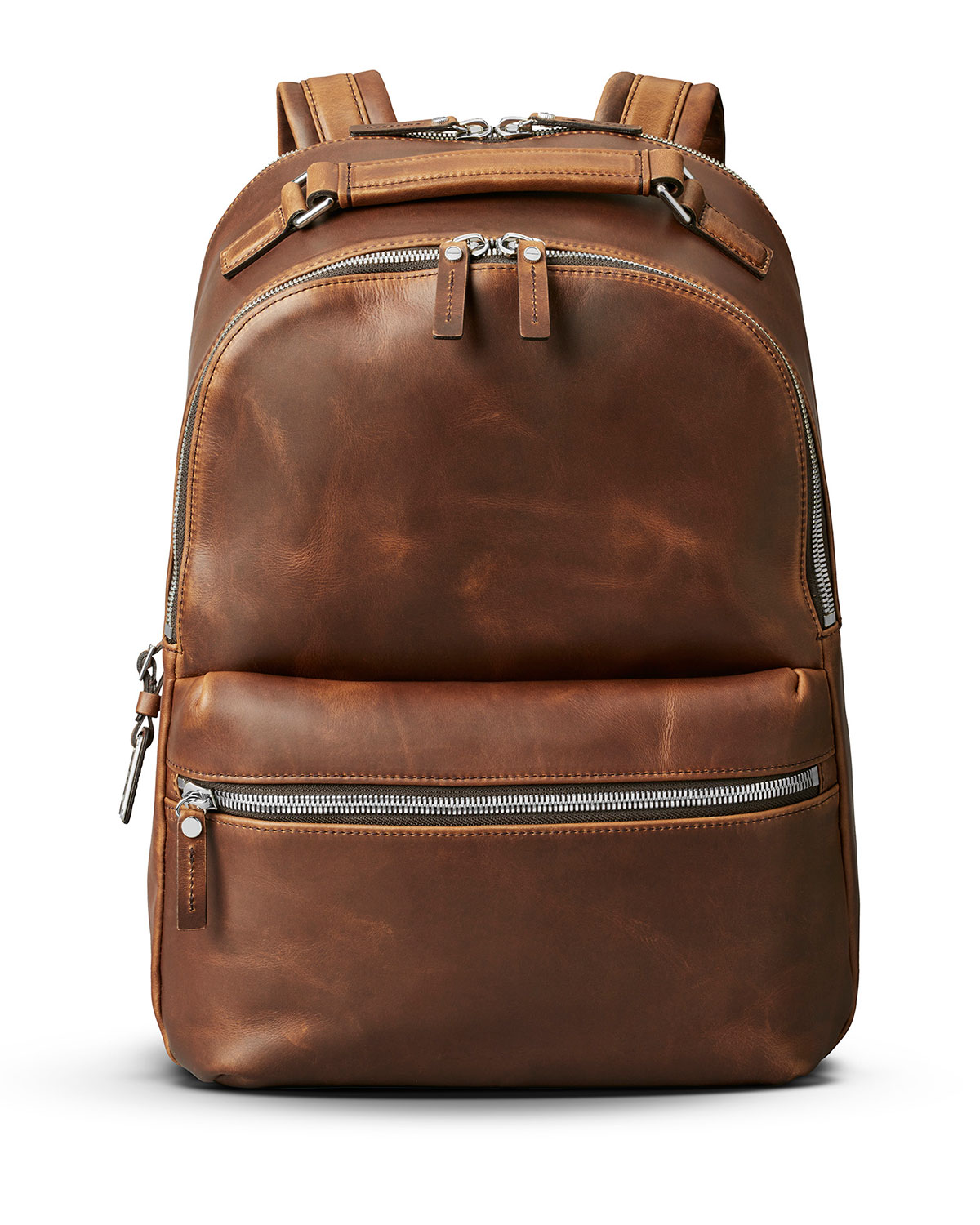 Brown Top Handle Leather Backpack | Neiman Marcus