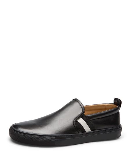 Bally Herald Leather Slip-On Sneaker