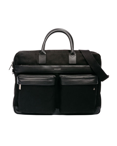 Canvas Casual Briefcase, Black