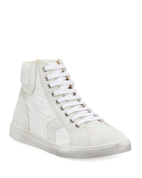 Men's Antibe Leather Mid-Top Sneakers