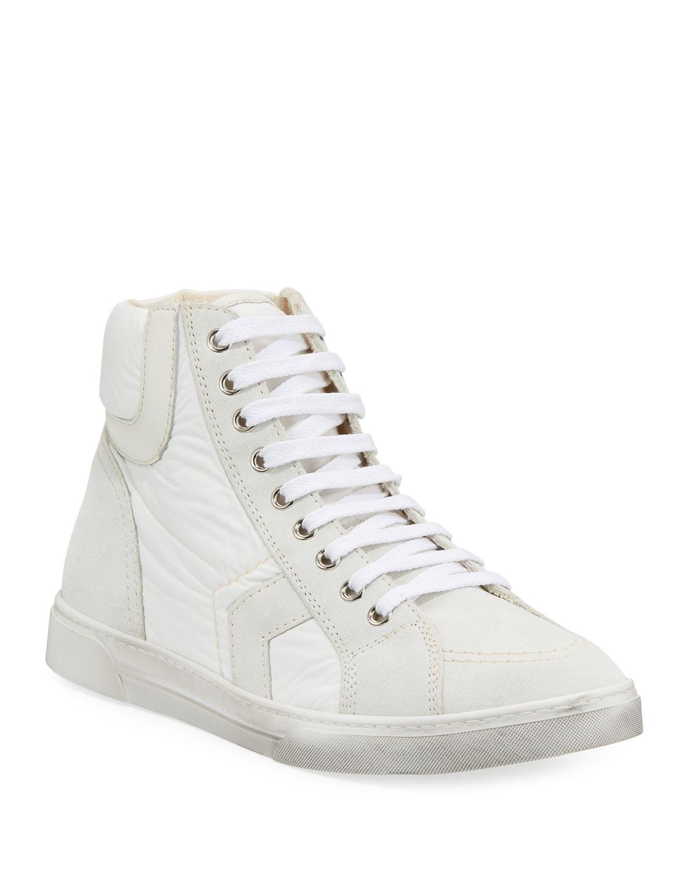 bf08d9b1095f6 Saint Laurent Men s Antibe Leather Mid-Top Sneakers