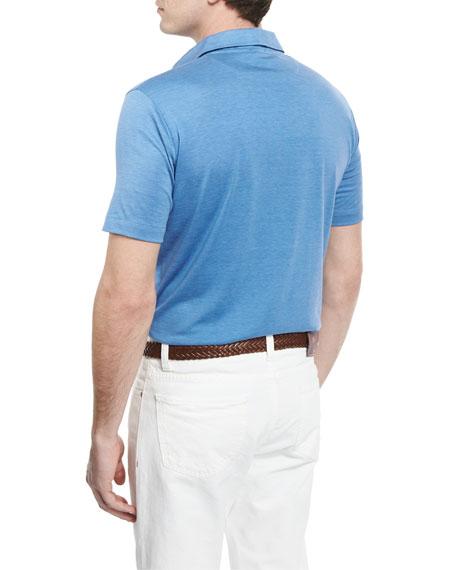 Pelleovo Jersey Polo Shirt, Blue