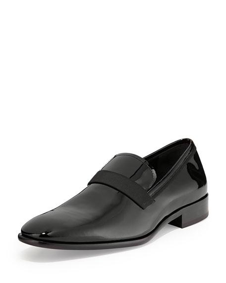 Salvatore Ferragamo Patent Loafer, Black