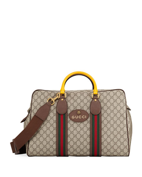 Gucci Men's Soft GG Supreme Duffel Bag with