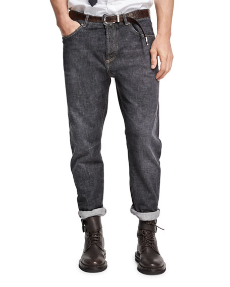Brunello Cucinelli Selvedge Denim Leisure-Fit Jeans and Matching