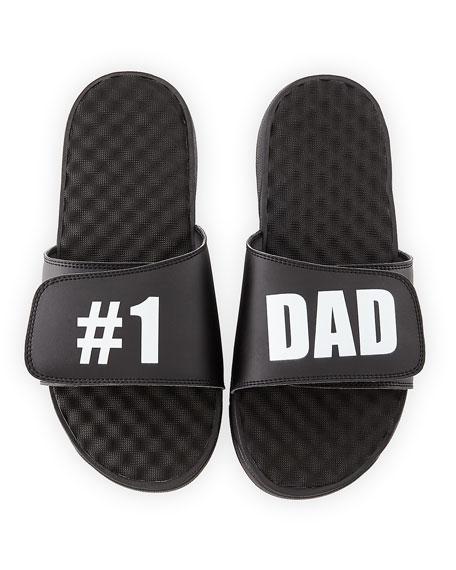 ISlide #1 Dad Slide Sandal, Black
