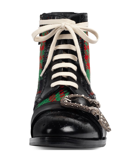 Queercore Leather Brogue Boot