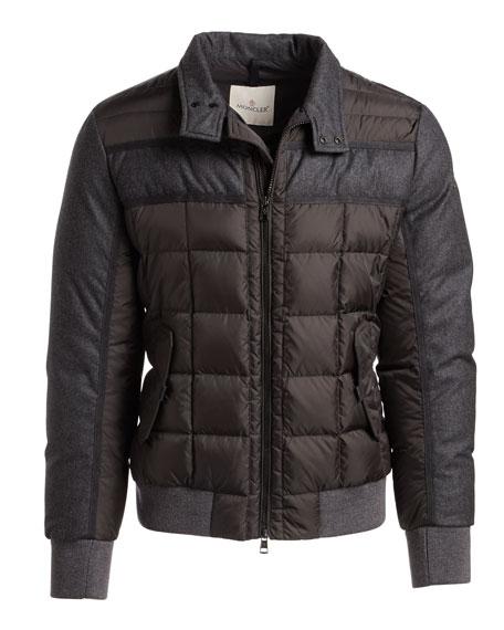 Aramis Wool-Paneled Nylon Puffer Jacket