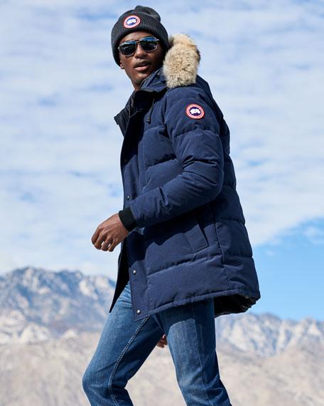 Carson Down Parka with Fur-Trim Hood