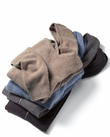 Oversized Boiled Cashmere Hoodie