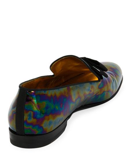 Barks Petrol Patent Leather Formal Loafer