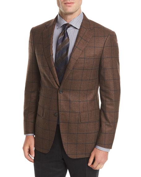 Windowpane Wool Two-Button Sport Coat