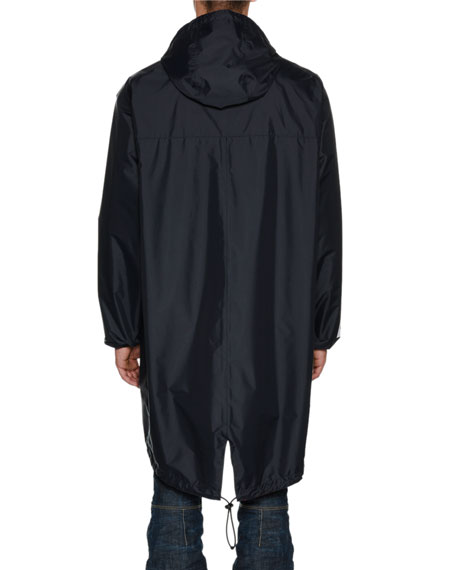 x K-Way® Long Reversible Nylon Packable Jacket