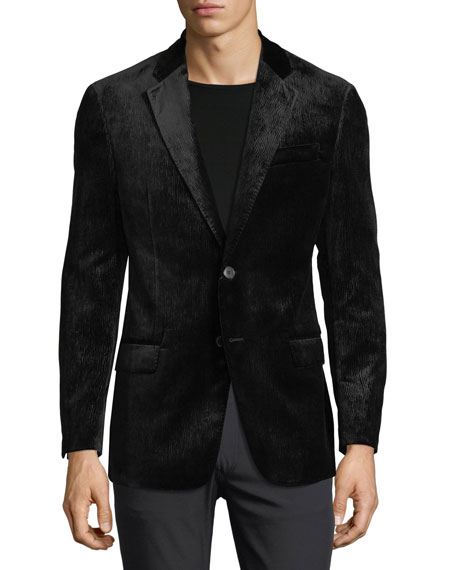 Peak-Lapel Velvet Dinner Jacket