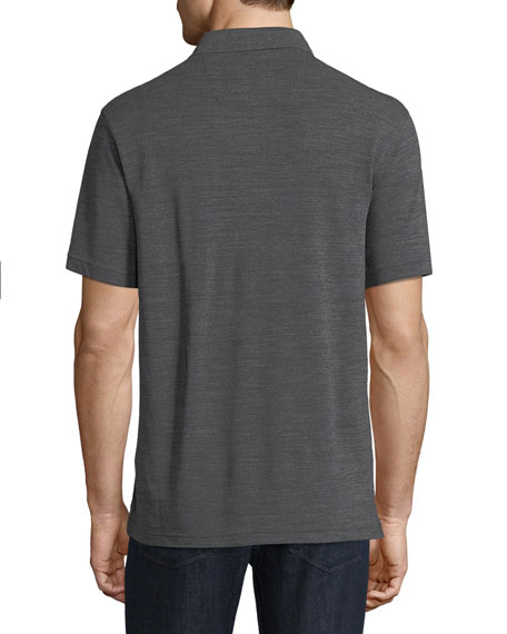 Techmerino Wool Polo Shirt, Dark Gray