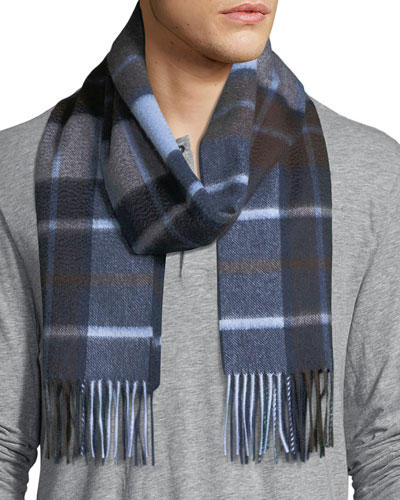 Cashmere Exploded Plaid Scarf