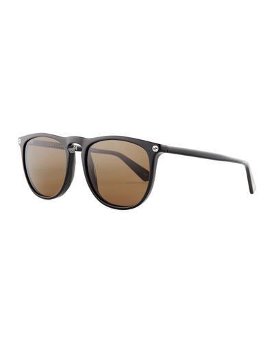 Acetate Pantos Sunglasses, Black