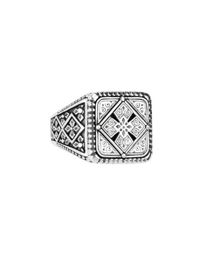 Men's Sterling Silver Classics Signet Ring, Size 10