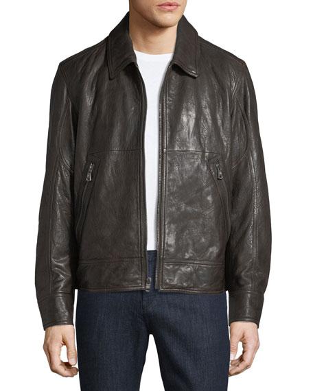 Andrew Marc Morrison Lambskin Leather Jacket